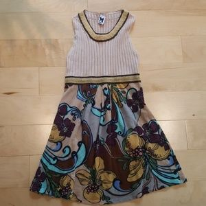 MISSONI midi knit flower dress